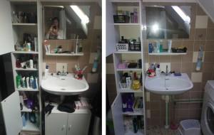 opgeruimd-advies-marit-fakkeldij-opruimen-badkamer-kast-voorraad-zeep-tandpasta-doucheschuim-voor-en-na-foto
